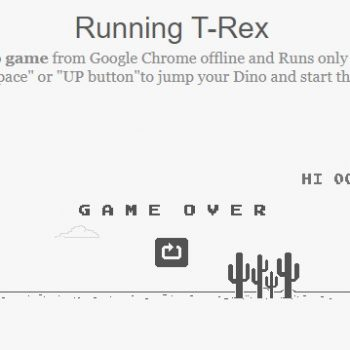 Game Chrome Dinosaur - Chrome dino Runs only on Chrome